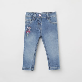 MAX Embroidered Slim Fit Jeans