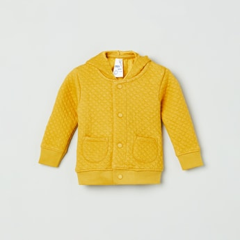 MAX Quilted Hoodie with Patch Pockets