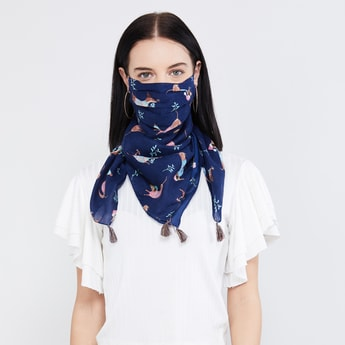 MAX Printed Anti-Bacterial Scarf Mask