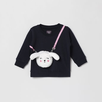 MAX Bunny Bag Applique Full Sleeves Sweatshirt