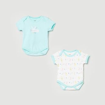 MAX Printed Rompers - Set of 2