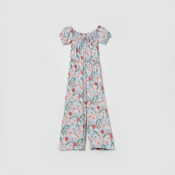 MAX All Over Print Round Neck Jumpsuit
