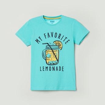 MAX Printed Crew Neck Casual T-shirt