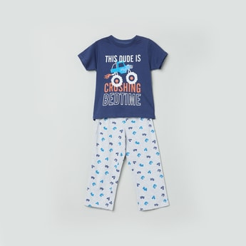 MAX Printed T-shirt with Pyjamas
