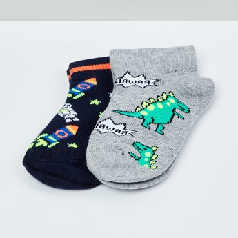 MAX Kids Patterned Socks- Pack of 2 - 2-4 Y