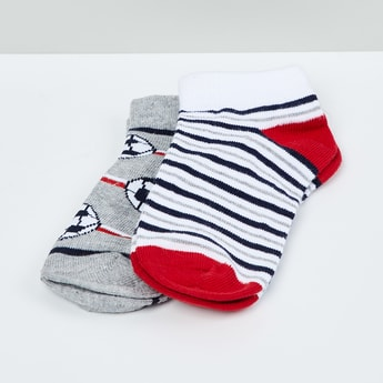 MAX Kids Patterned Ankle-Length Socks - Set of 2 - 5-7 Y