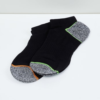 MAX Kids Colourblocked Ankle-Length Socks - Set of 2 - 10-12 Y