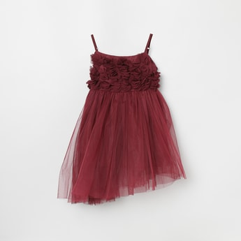 MAX Applique Asymmetric Dress