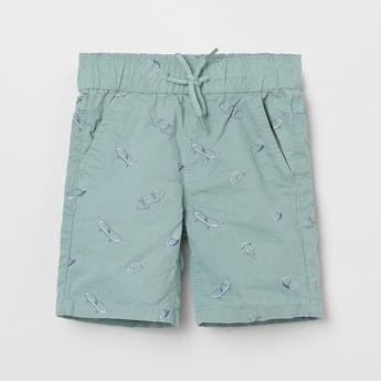 MAX Printed Drawstring Waist Shorts