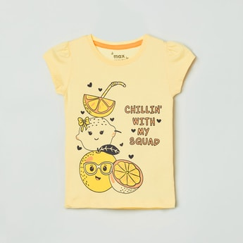 MAX Graphic Print Round Neck T-shirt