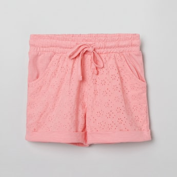 MAX Schiffli Detailed Elasticated Shorts