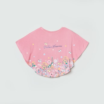 Max Floral Print Poncho Top