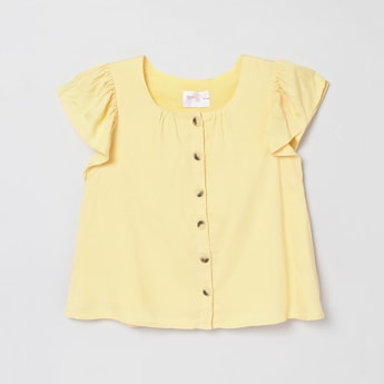 MAX Solid Short Sleeves Top