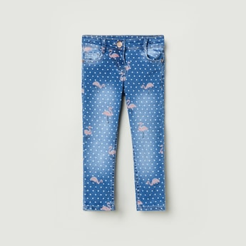 MAX Printed Slim Fit Jeans