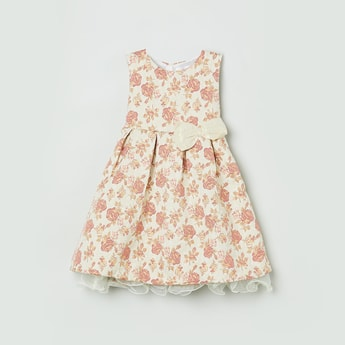 MAX Embroidered Sleeveless A-Line Dress
