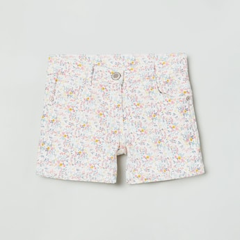 MAX Floral Print Denim Shorts