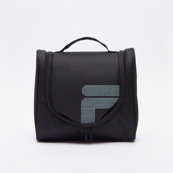 Textured Travel Pouch with Zip Closure and Top Handle