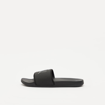 Solid Slides with Embossed Print