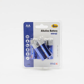6-Piece AA Alkaline Battery Set