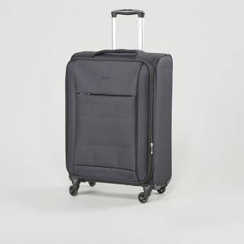 Textured Trolley Case with Retractable Handles and Caster Wheels 41x27x58 cms