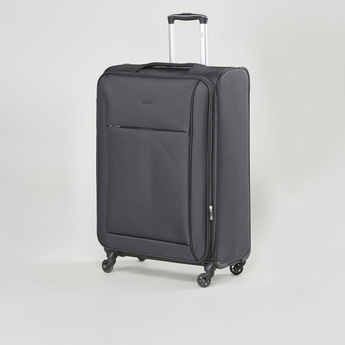 Textured Trolley Case with Retractable Handle and Caster Wheels 47x31x68 cms