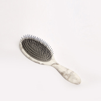 Printed Oval Flat Hairbrush