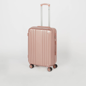 Textured Hard Case Trolley Bag with Retractable Handle
