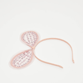 Embellished Hairband with Bow Accent