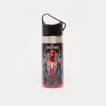 Spider-Man Print Water Bottle with Cap - 500 ml