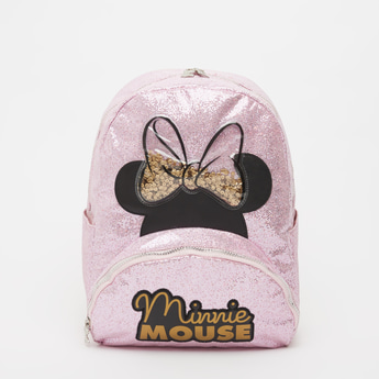 Minnie Mouse Embellished Backpack with Shoulder Straps - 14 Inches