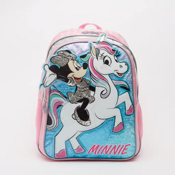 Minnie Mouse Embellished Backpack with Adjustable Straps - 16 Inches