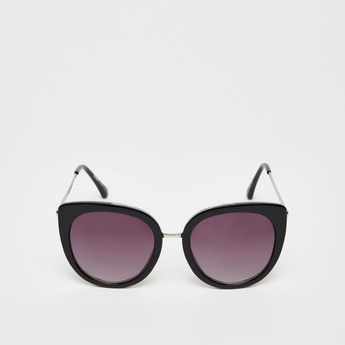 Solid Sunglasses with Nose Pads