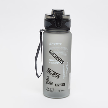 Printed Water Bottle with Flip Cap and Handle - 750 ml