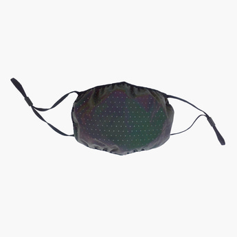 Scatter Dots Print Reflective Face Mask with Adjustable Straps