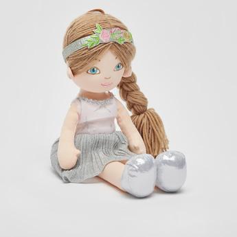 Glitter Accent Dress Rag Doll
