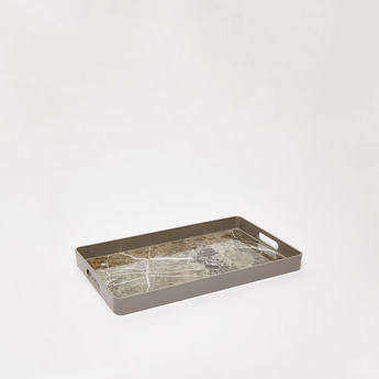 Abstract Print Serving Tray with Cutout Handles - 200x135 cms