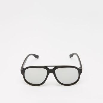 Solid Framed Sunglasses with Nose Pads