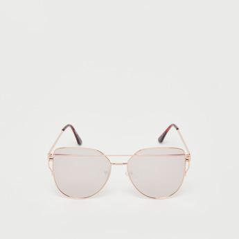 نظارات شمسية بوسادات أنف وإطار معدني