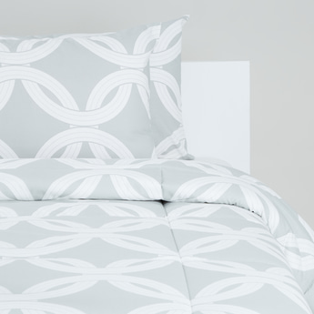 Printed 2-Piece Single Comforter Set - 220x160 cms