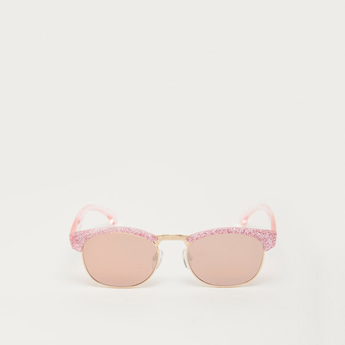 Glitter Embellished Metal Sunglasses