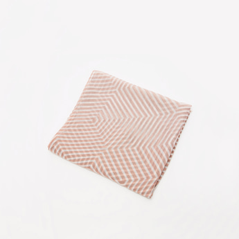 Striped Rectangle Scarf with Fringes