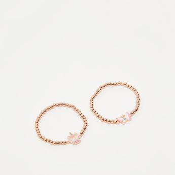 Set of 2 - Beaded Bracelet with Pendant