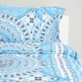 Printed 3-Piece King Size Comforter Set - 230x220 cms
