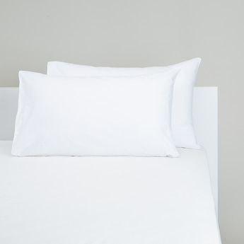 Solid 2-Piece Pillowcase Set - 75x50 cms