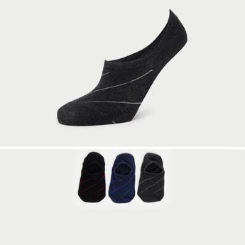 جوارب غير مرئية وتفاصيل مخططة - طقم من 3 أزواج