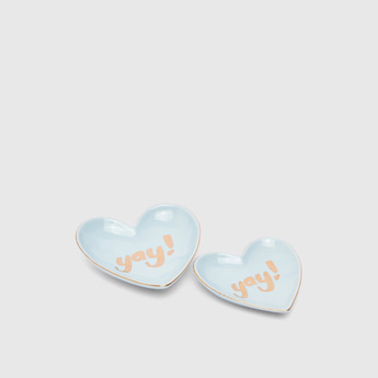 Set of 2 - Yay! Ceramic Jewellery Plate