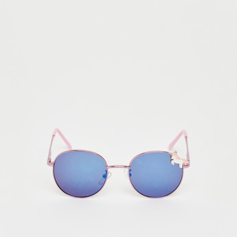 Tinted Sunglasses with Unicorn Accent