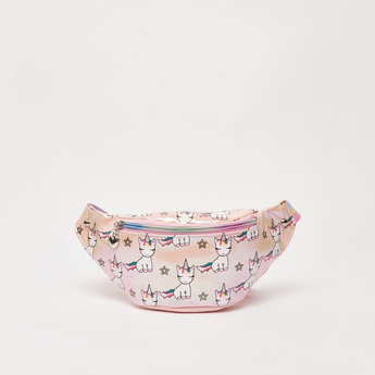 Printed Fanny Pack with Buckle Strap