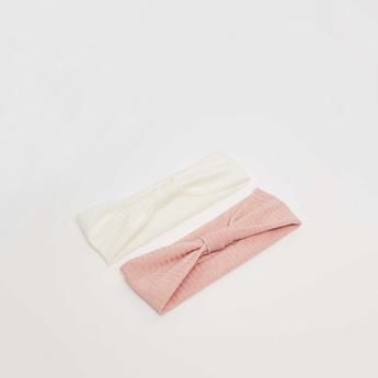Elasticated Striped Hairband - Set of 2