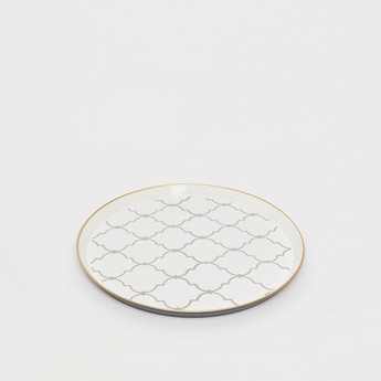 Trellis Print Serving Tray